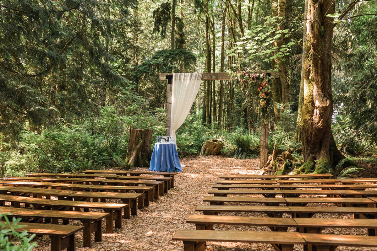 Snohomish wedding venue twin willow gardens